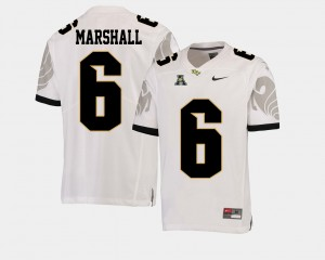 Men's College Football White Brandon Marshall UCF Jersey #6 American Athletic Conference 957106-945