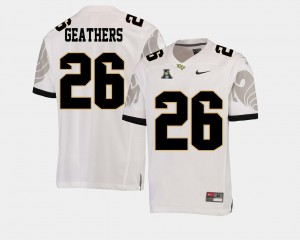 College Football #26 Clayton Geathers UCF Jersey American Athletic Conference For Men's White 232170-685