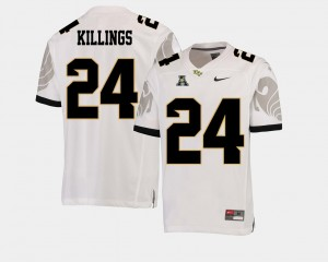 #24 White College Football Men's American Athletic Conference D.J. Killings UCF Jersey 536252-944