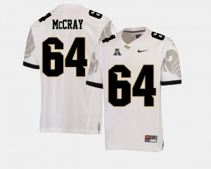 College Football #64 American Athletic Conference White Justin McCray UCF Jersey For Men 973485-970