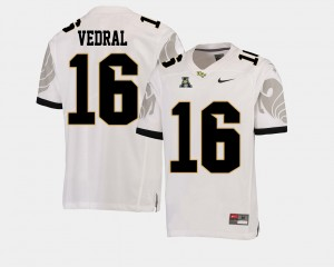 Noah Vedral UCF Jersey For Men's #16 American Athletic Conference White College Football 878753-946
