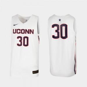 UConn Jersey #30 For Men's Replica White College Basketball 842819-409