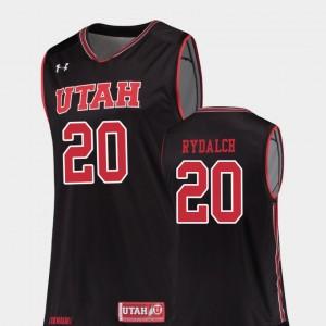 Replica Beau Rydalch Utah Jersey #20 College Basketball For Men Black 210319-619