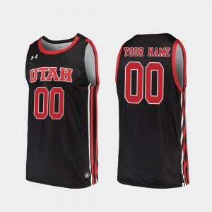 Black #00 Utah Customized Jerseys Replica 2019-20 College Basketball For Men 186832-222