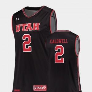 Black College Basketball Replica Kolbe Caldwell Utah Jersey #2 Men 641303-766