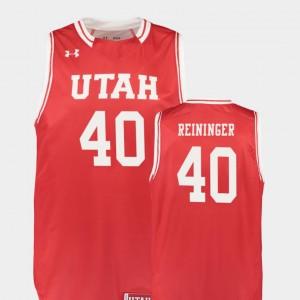Marc Reininger Utah Jersey Men's #40 Replica College Basketball Red 458745-466