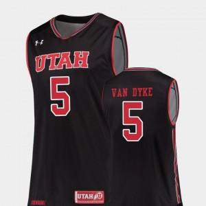 #5 Replica College Basketball Mens Black Parker Van Dyke Utah Jersey 289617-304