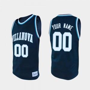 Villanova Custom Jersey Navy For Men Alumni #00 College Basketball 640743-668