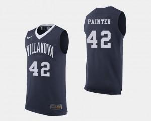 #42 College Basketball Navy For Men Dylan Painter Villanova Jersey 303041-556