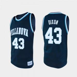 For Men #43 Eric Dixon Villanova Jersey College Basketball Navy Alumni 887092-601