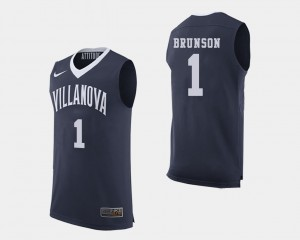 Mens College Basketball Navy #1 Jalen Brunson Villanova Jersey 854546-675