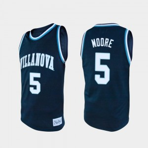 Navy Justin Moore Villanova Jersey College Basketball #5 Alumni Mens 599898-623
