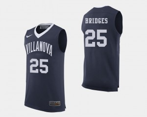 Navy College Basketball For Men #25 Mikal Bridges Villanova Jersey 449127-864