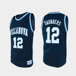 College Basketball Navy Men's #12 Tim Saunders Villanova Jersey Alumni 903660-520