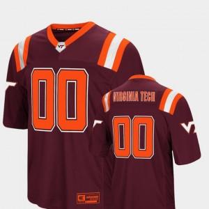 Colosseum Foos-Ball Football Virginia Tech Jersey Maroon #00 Men's 692823-307
