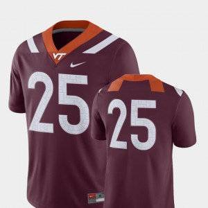 #25 2018 Game For Men College Football Maroon Virginia Tech Jersey 361732-983