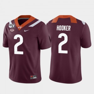 For Men Game #2 College Football Maroon Hendon Hooker Virginia Tech Jersey 190852-236