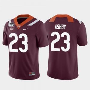 College Football Maroon Game Rayshard Ashby Virginia Tech Jersey Men #23 931858-765