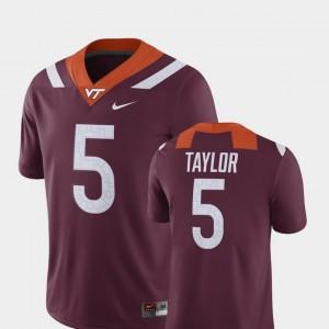 #5 Player Tyrod Taylor Virginia Tech Jersey Alumni Football Game Maroon For Men 720944-833