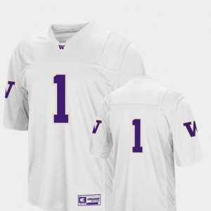 College Football For Men's Washington Jersey White Colosseum 2018 #1 212714-262