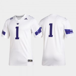 College Football #1 Washington Jersey Premier White Men 731103-547