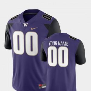#00 Purple Men's Washington Custom Jersey 2018 Game College Football 911435-932