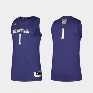 Swingman Basketball Basketball Swingman Washington Jersey Purple Mens #1 907076-555