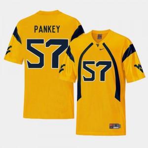 Gold #57 Men's Adam Pankey WVU Jersey College Football Replica 293462-113