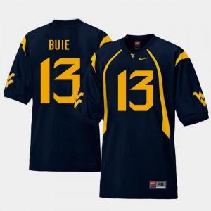 For Men's #13 Andrew Buie WVU Jersey College Football Replica Navy 982095-186