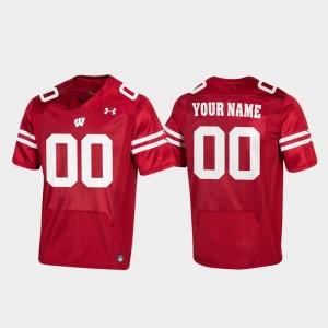 Wisconsin Custom Jerseys For Men #00 Replica Red Football 836764-451