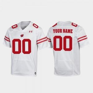 White Replica Mens Wisconsin Customized Jersey #00 Football 781440-996