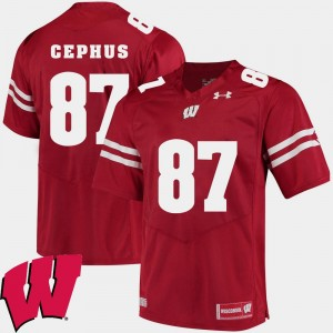 Mens Quintez Cephus Wisconsin Jersey 2018 NCAA Red #87 Alumni Football Game 793272-479