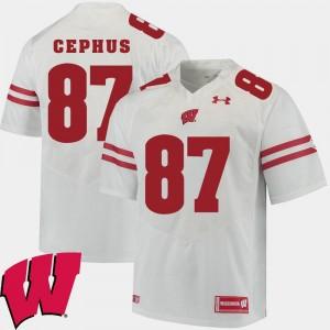 #87 Alumni Football Game Men 2018 NCAA Quintez Cephus Wisconsin Jersey White 808699-653