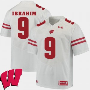 White Men's #9 Alumni Football Game Rachid Ibrahim Wisconsin Jersey 2018 NCAA 723265-815