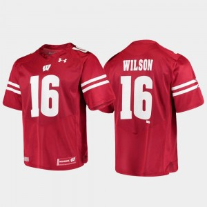 Alumni Football Game For Men Replica Russell Wilson Wisconsin Jersey #16 Red 255626-385