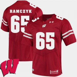 Red #65 Ryan Ramczyk Wisconsin Jersey 2018 NCAA For Men's Alumni Football Game 946785-378