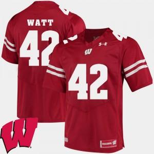 Red For Men's Alumni Football Game T.J. Watt Wisconsin Jersey #42 2018 NCAA 605649-544