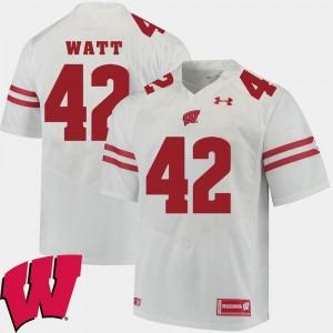 T.J. Watt Wisconsin Jersey Alumni Football Game White #42 For Men's 2018 NCAA 895732-114