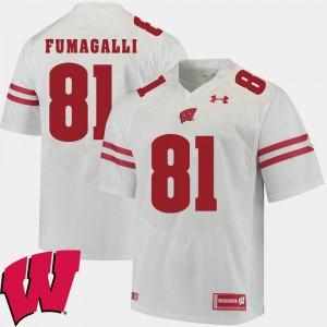 White 2018 NCAA Alumni Football Game Men #81 Troy Fumagalli Wisconsin Jersey 630177-976