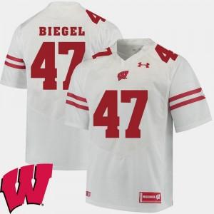 2018 NCAA Vince Biegel Wisconsin Jersey Alumni Football Game White For Men #47 900366-678