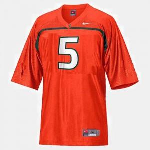 For Men #5 Andre Johnson Miami Jersey Orange College Football 162166-462
