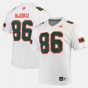 2017 Special Games David Njoku Miami Jersey #86 For Men's White 837989-268
