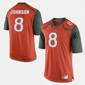 Duke Johnson Miami Jersey #8 For Men Orange College Football 548925-555