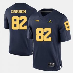 Amara Darboh Michigan Jersey College Football #82 For Men Navy Blue 942707-395
