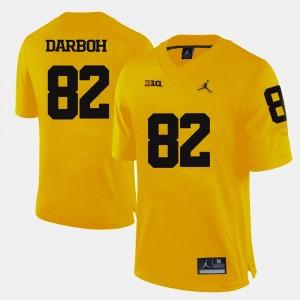 #82 Yellow Amara Darboh Michigan Jersey College Football Mens 685151-341
