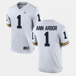 Ann Arbor Michigan Jersey White Alumni Football Game For Men's #1 580730-283