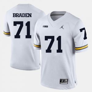 Ben Braden Michigan Jersey College Football Men's #71 White 825875-128
