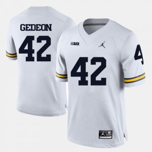 White Ben Gedeon Michigan Jersey #42 Men's College Football 761302-393