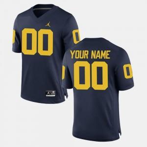 Michigan Custom Jerseys Men's College Limited Football Navy #00 266159-250