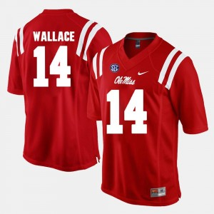 Red Alumni Football Game #14 Mike Wallace Ole Miss Jersey Men's 262216-353